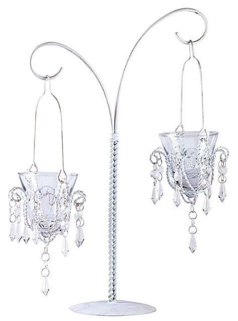 kronleuchter teelichthalter white metal hanging votive candleholder teardrop