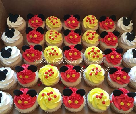 Cupcake Buttercream Birthday Package mickey mouse birthday cupcakes white cake with vanilla buttercream cupcakes