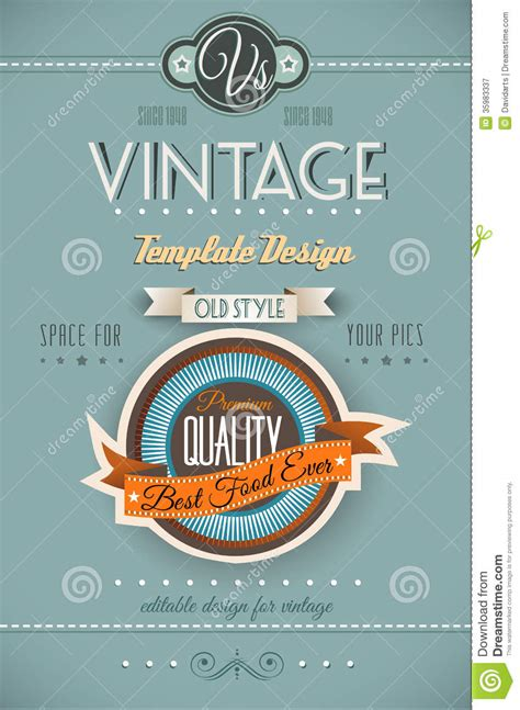retro poster template vintage retro page template for a variety of purposes