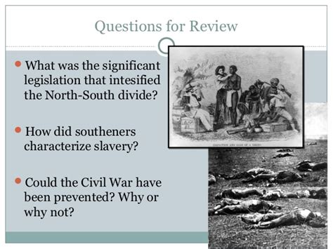 how did slavery cause the divisions of sectionalism road to civil war powerpoint