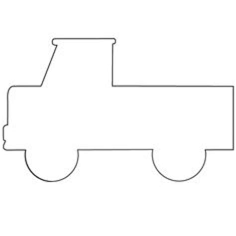 truck template 6 best images of car template printable for car