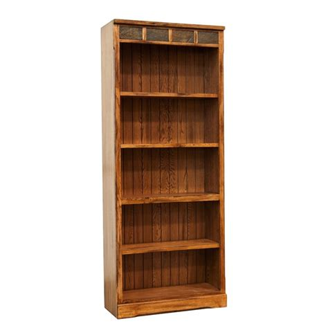 sunny designs sedona bookcase sunny designs sedona 5 shelf bookcase in rustic oak