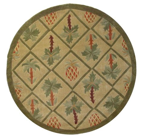 tropical kitchen rugs 8x8 area rug tropical palm tree pineapple 1 inch