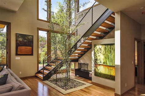 contemporary style home in burlingame california stairs modern home in burlingame california