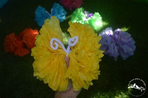 How To Make A Butterfly With Tissue Paper - tissue paper butterflies my brown paper packages
