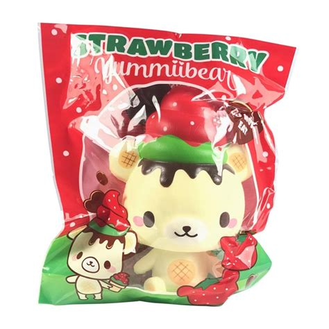 Squishy Strawberry By Yummiibear squishy yummiibear strawberry kawaii panda