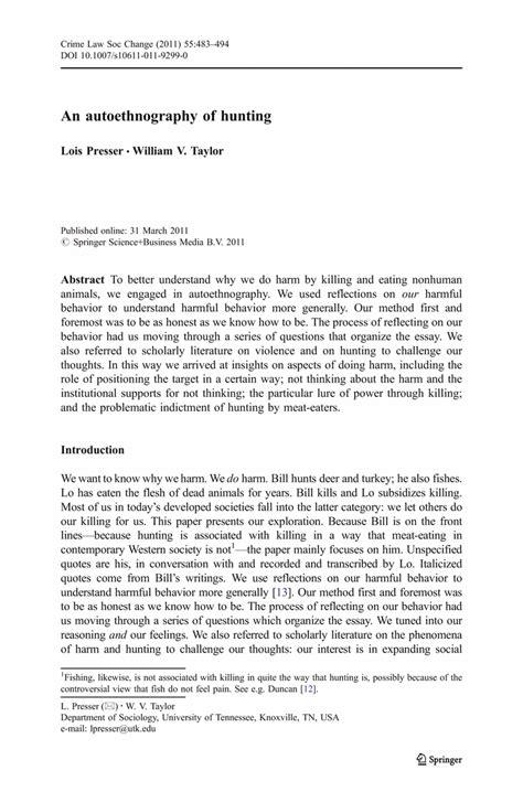 autoethnography example essays autoethnography example