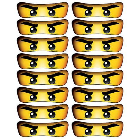 ninjago printable eyes instant download ninjago eyes 4 inch banner by