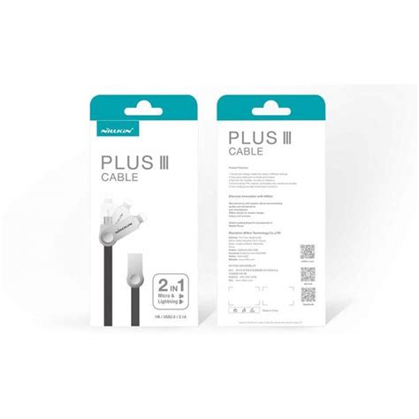 Nillkin Plus Iii Micro Usb Lightning Sync Data Charging Cable nillkin plus iii micro usb and lightning sync data charging cable white jakartanotebook