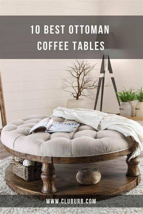 ottoman coffee table ideas  square tufted