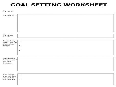 Goal Setting Worksheet Pdf by Goal Setting Worksheet Guillermotull