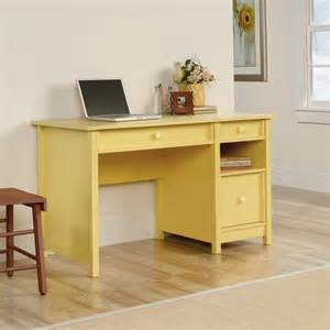 sauder original cottage melon yellow finish home office - Yellow Desk L
