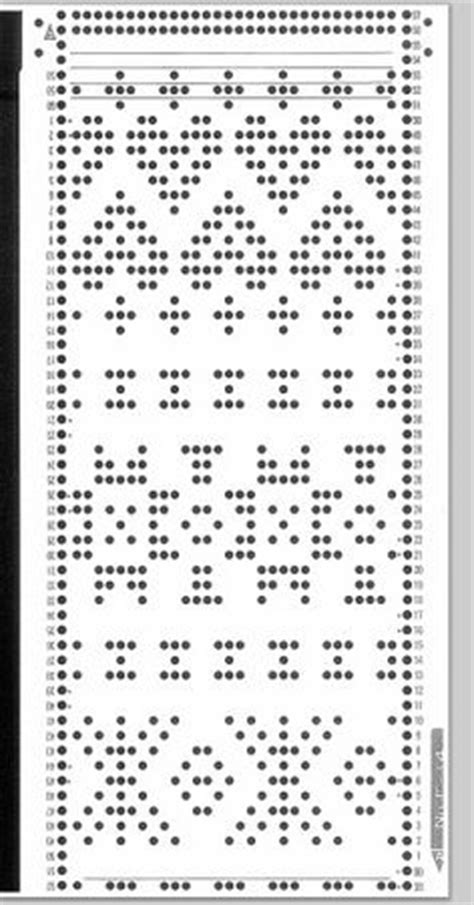tree sts for card punchcard design on knitting machine pattern