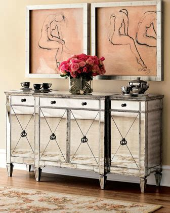 dining room consoles buffets amelie mirrored console midcentury buffets and