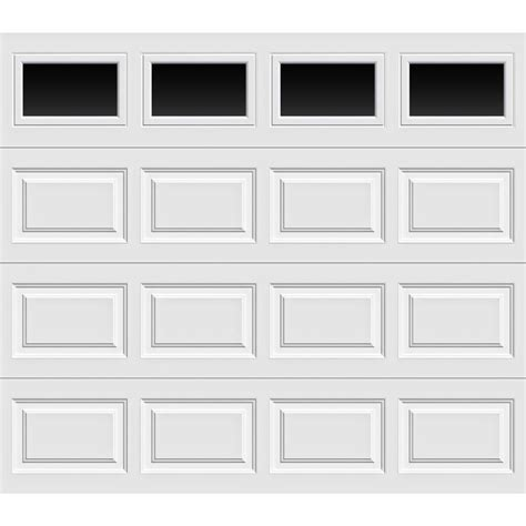 Overhead Door Home Depot Clopay Premium Series 8 Ft X 7 Ft 12 9 R Value Intellicore Insulated White Garage Door With