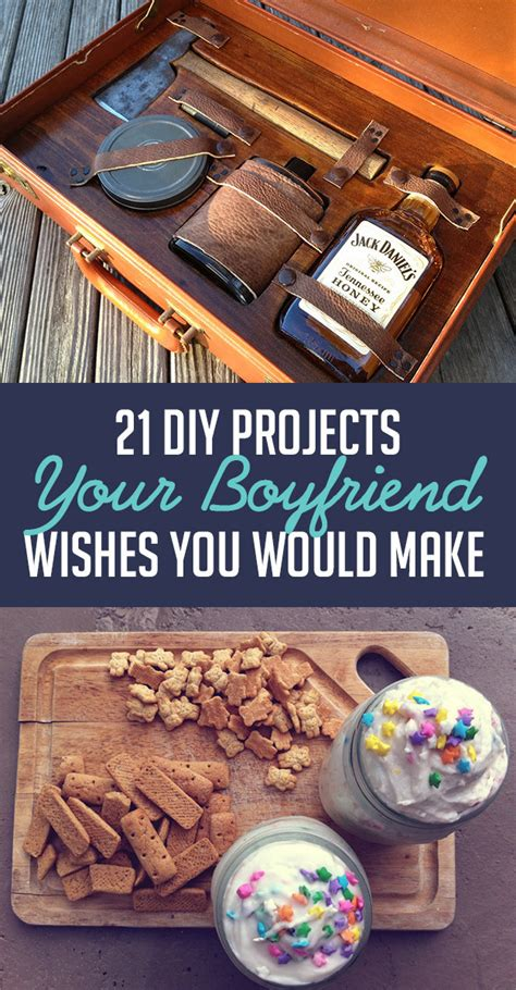 Handmade Things To Make For Your Boyfriend - 21 diy projects your boyfriend wishes you would make