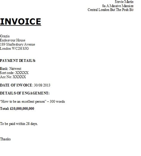 how to write a invoice template personal invoice template uk invoice exle