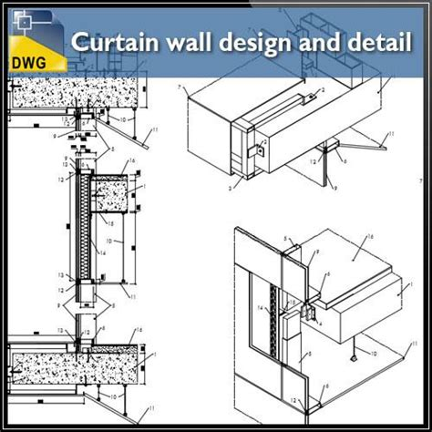 curtain wall detail cad products tagged quot curtain wall quot cad design free cad