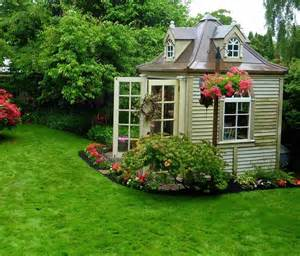 Flowers green lawn she sheds backyard ideas studio space