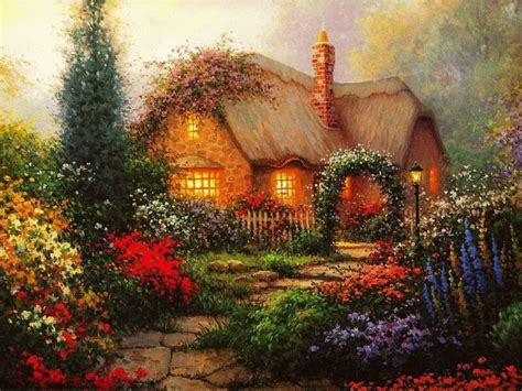 Enchanted Cottage by Beautiful Painting Of Xcitefun Net