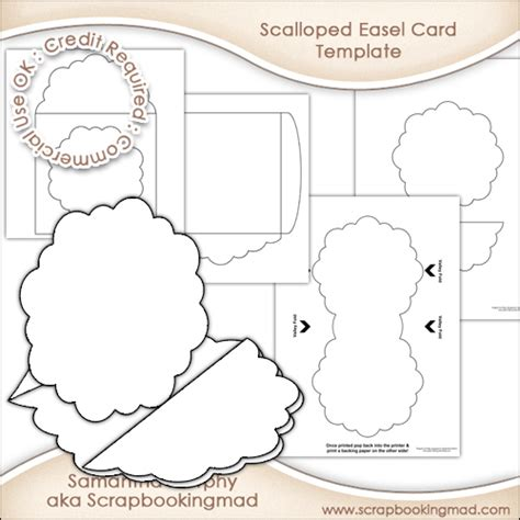 easel card template scalloped pyramage easel card envelope template