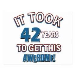 42nd birthday cards zazzle