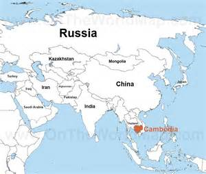 World Map Cambodia by Cambodia On The World Map Cambodia On The Asia Map