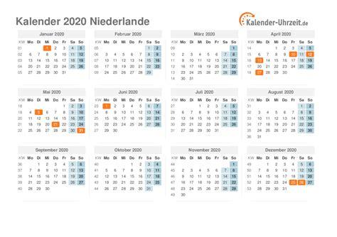 feiertage  niederlande kalender uebersicht