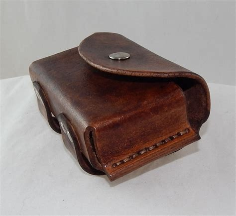 leather pounch leather altoids tin belt pouch