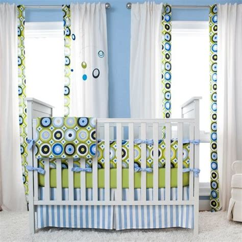 green baby bedding blue and green giddy dot crib bedding collection modern
