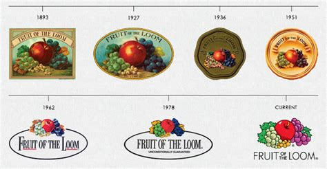 fruit of the loom fruit of the loom logo history visual ly