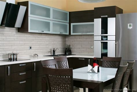 kitchen backsplash ideas with dark cabinets pictures of kitchens modern dark wood kitchens
