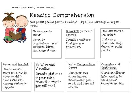 Reading Skills And Strategies Worksheet