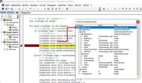 Word Design Vorlagen ändern Word Vba Makro Wordart Mit Glow Effect Und Shadow Ver 228 Ndern Programmierer Office