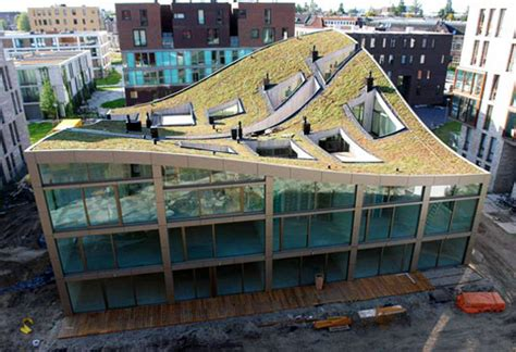 sustainable apartment design nl architects completes construction on green roofed