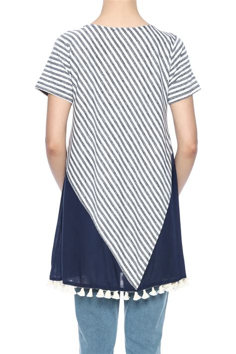 L A Tunic Navy umgee usa striped navy tunic from by it s swice