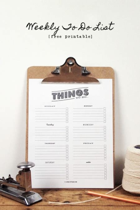 diy printable to do list things to do list free printable printables pinterest