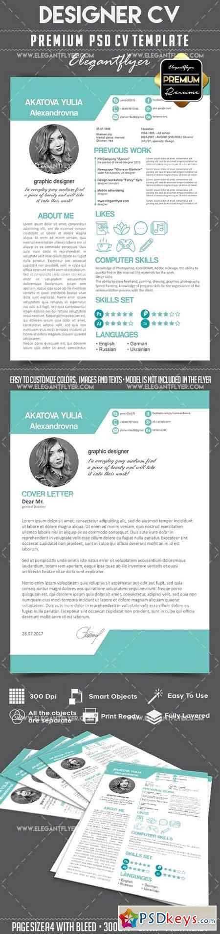 resume psd template rar cv premium cv and cover letter psd template 187 free