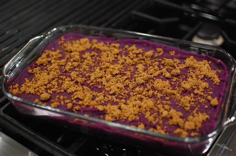 how to cook purple yam in the oven purple sweet potato casserole purple yam casserole the 350 degree oven