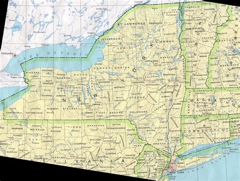 map of state of new york new york base map