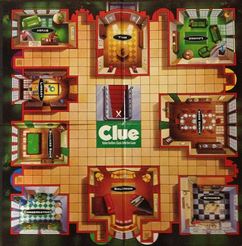Australian Mansion Floor Plans by Clue Board Game