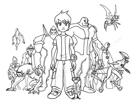 Ben 10 Coloring Pages Ben Ten Coloring Pages