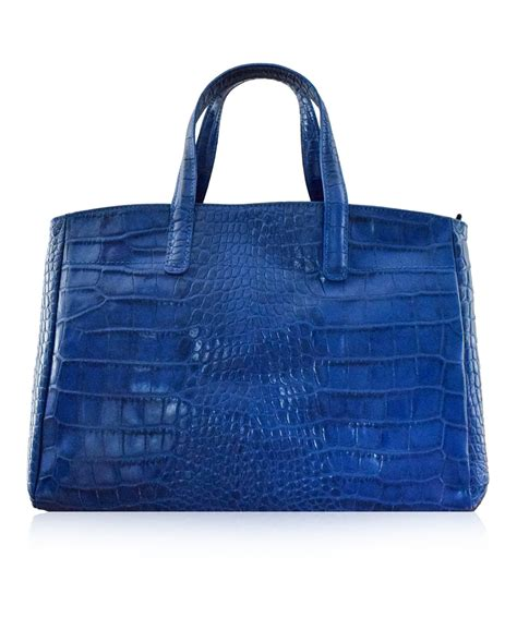 croco string rotelli shoulder bag godenzo blue longch roseau style italian leather tote