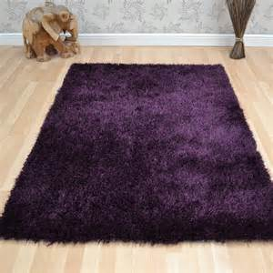 Purple Shag Rugs Diva Shaggy Rugs In Purple Free Uk Delivery The Rug Seller