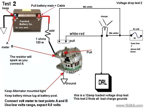 how to test if resistor is working charging system diagnoses