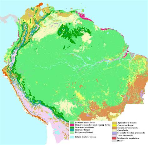 vegetation map of america forest observations