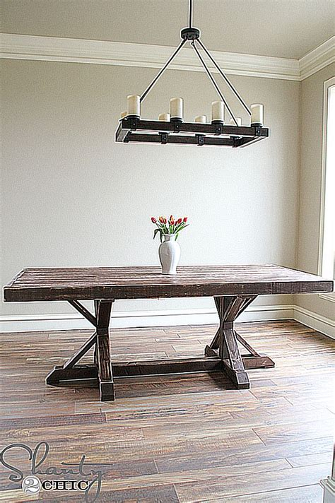 Building Your Own Dining Room Table Build Your Own Dining Room Table With These Free Plans Diy Table Pictures Of And Chic