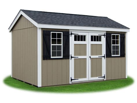 Shed With Side Storage Peak A Frame Style Sheds Pine Creek Structures
