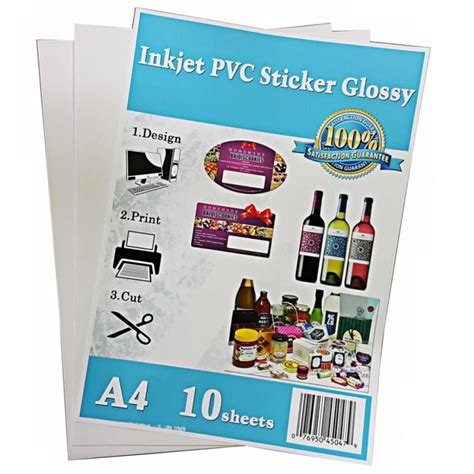 inkjet printable vinyl sticker malaysia a4 pvc white glossy sticker paper fo end 9 25 2018 4 15 pm