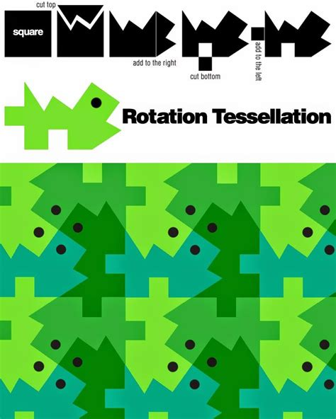 how to make a tessellation template with an index card rotation tessellation e is for explore flipping